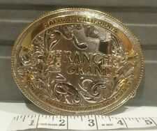 "Custome Belt Buckle Gold/silver 5""x4""Western Buckle-Fits Any1.5""-2.25"" Wide Belt"