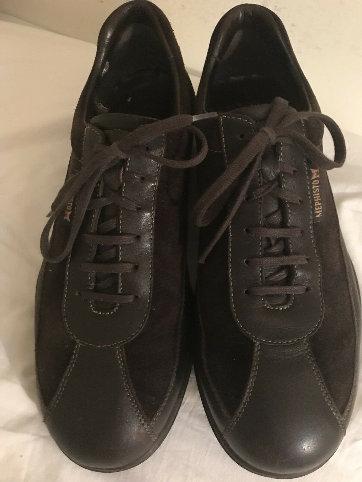 Mephisto Leather And Suede Brown Fashion Sneakers U.S. 9 1 2