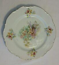 """Vintage Tea Tile or Trivet Porcelan Pink Pastel Flowers 10.5"""" Shabby Chic Plate"""