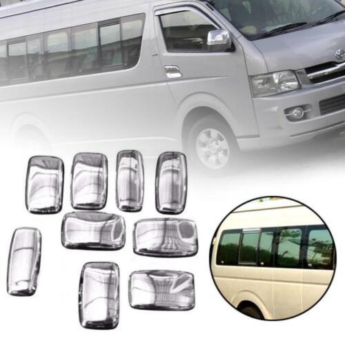 Mirror Hub Cover Full Set 9 PCs Chrome Fits Toyota Hiace Commuter 2005-2019
