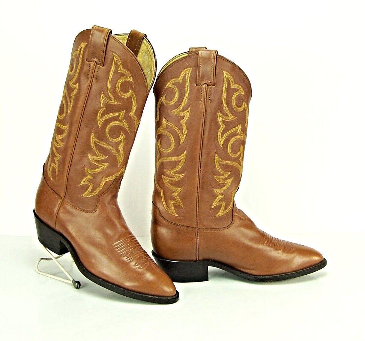 JUSTIN para hombres D Lt Marrón Cuero botas de vaquero occidental estilo St