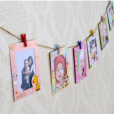 DIY Wall Hanging Cute Animal Paper Photo Frame for Pictures 9 pcs/lot 6 Inch New