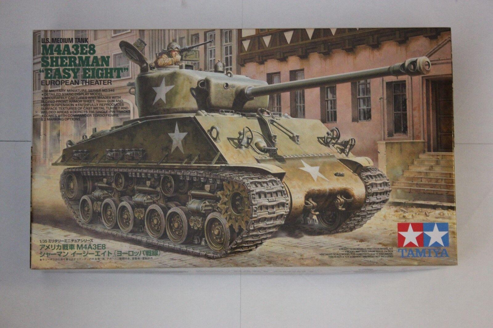 TAMIYA 35346 US M4A3E8 Sherman Easy 8 1 35 Tank Model Kit