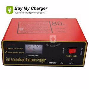 Automatic 12v 8a 80ah Intelligent Negetive Pulse Dry Wet Battery