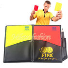 Referee Red Yellow Card Football Sport Wallet Score Notebook Pencil Soccer Set
