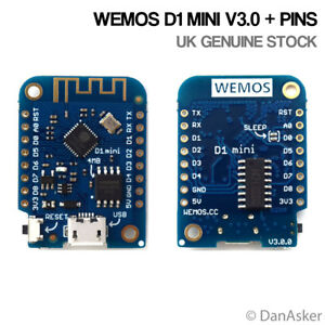 Details about WeMos D1 Mini LATEST V3 1 UK Stock - Arduino NodeMCU  MicroPython WiFi ESP8266