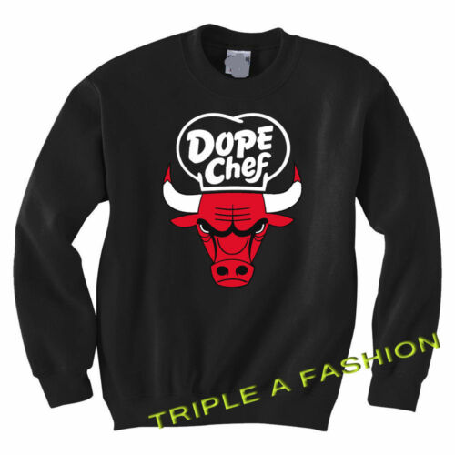 DOPE CHEF CAT BULL CHICAGO FUNNY UNISEX long sleeve new Sweatshirt Jumper gift