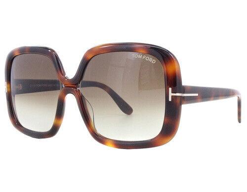 Brown Sunglasses NO CASE NEW Tom Ford FT 0389 52F TF 389 Valeria Havana