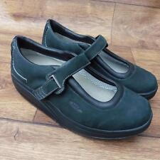 Taglia UK 5.5 MBT Kaya Verde Nero Nabuk Leather Tonificanti Fitness Walking shoes