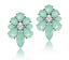 Vintage-Style-MINT-GREEN-Crystal-Flower-Shape-Fashion-Earrings-Stud-1-034-BNEW miniatuur 1