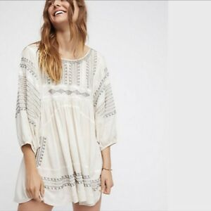 NWT-FREE-PEOPLE-Wild-One-Oversized-Embroidery-Tunic-Size-Small-S-Retail-168