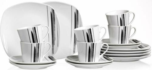 Ritzenhoff /& Breker Porzellan Kaffee Service Nero NEU,OVP 18-teilig