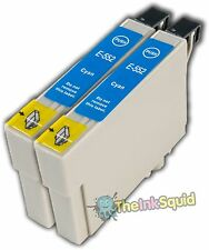 2 Cyan T0552 non-OEM Ink Cartridge For Epson Stylus Photo RX420 RX425 RX520
