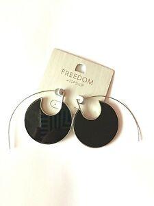 BNWT Topshop Black Round Thread Through Earrings