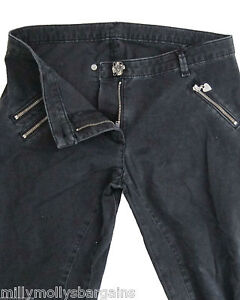 New Womens Black Pocket Capri Lipsy Crop Trousers Size 8 6 RRP £50
