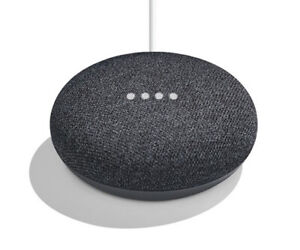 NEW-Google-Home-Mini-Smart-Assistant-amp-Speaker-Charcoal-Sealed-in-Original-Box