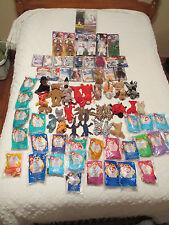 Huge Lot of 69 TY Beanie Babies, Teenie, McDonald's, Betty Boop, Princess Diana