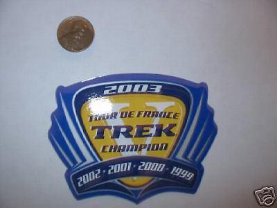 ONE 2003 5x Tour De France Trek Decal//Autocollant Lance Armstrong