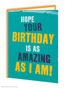 Brainbox Candy Birthday greeting cards funny novelty cheeky joke humour amazing