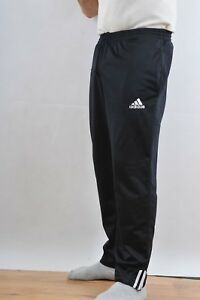 c056613891571f Image is loading ADIDAS-Tracksuit-TROUSERS-Pants-Black-Polyester-Shiny-S-