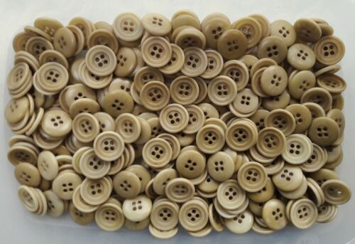 Z280 18mm 28L Sandy Beige Natural Cream Brown 4 Hole Polished Buttons Sewing
