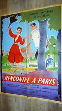RENCONTRE A PARIS  ! robert lamoureux  affiche cinema  1955