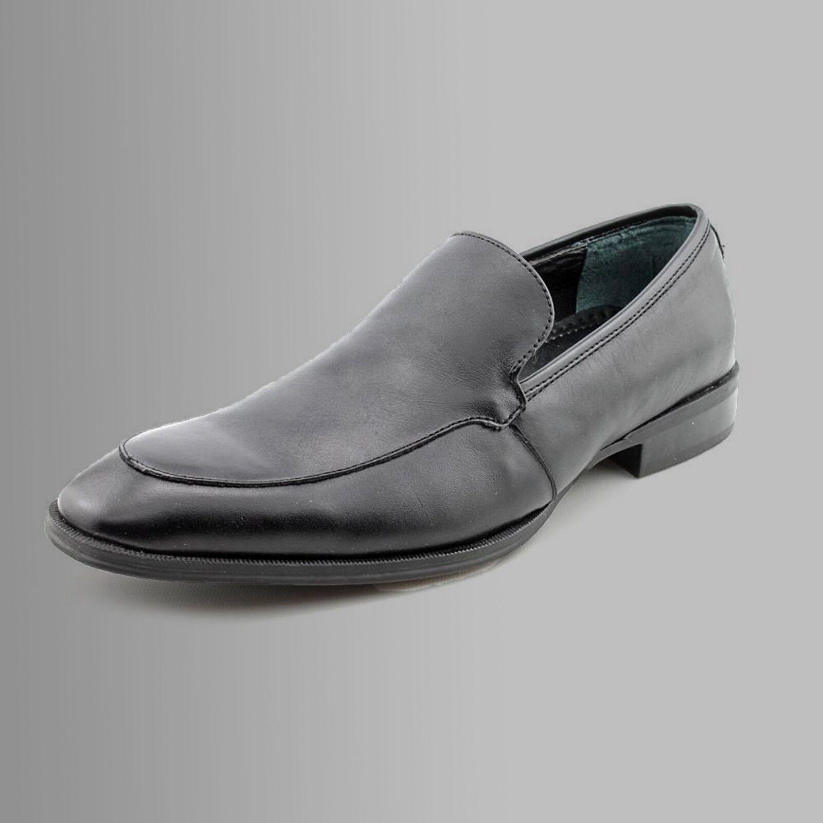 NEU ALFANI Herren Leder Schwarz Abend Business Schuhe EUR 39,5 USA Gemach