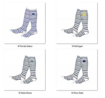 Two Feet Ahead College Fan Adult Womans Polka Dot Knee High Socks