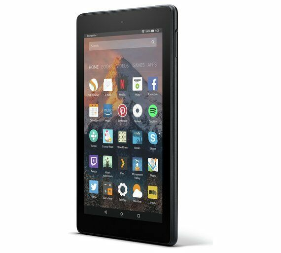 """Fire 7 Tablet with Alexa, 7"""" Display, 8 GB, Black"""