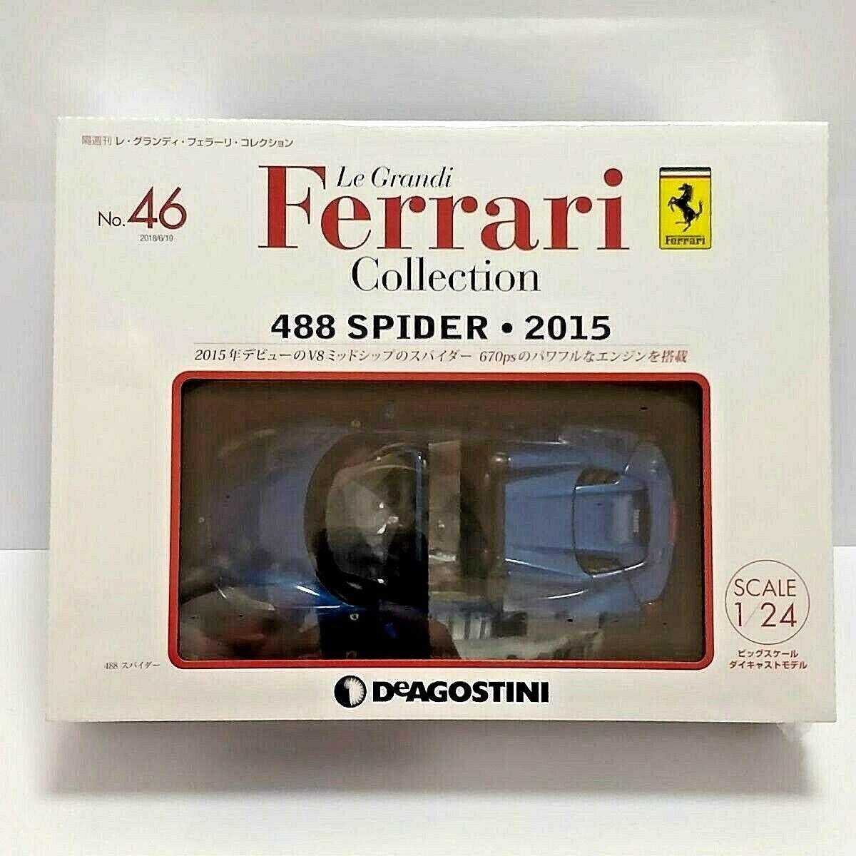 suministro directo de los fabricantes DeAgostini 488 Araña 2015 1 24 Modelo le Grandi Ferrari Ferrari Ferrari COLLECTION No.46 Japón  encuentra tu favorito aquí