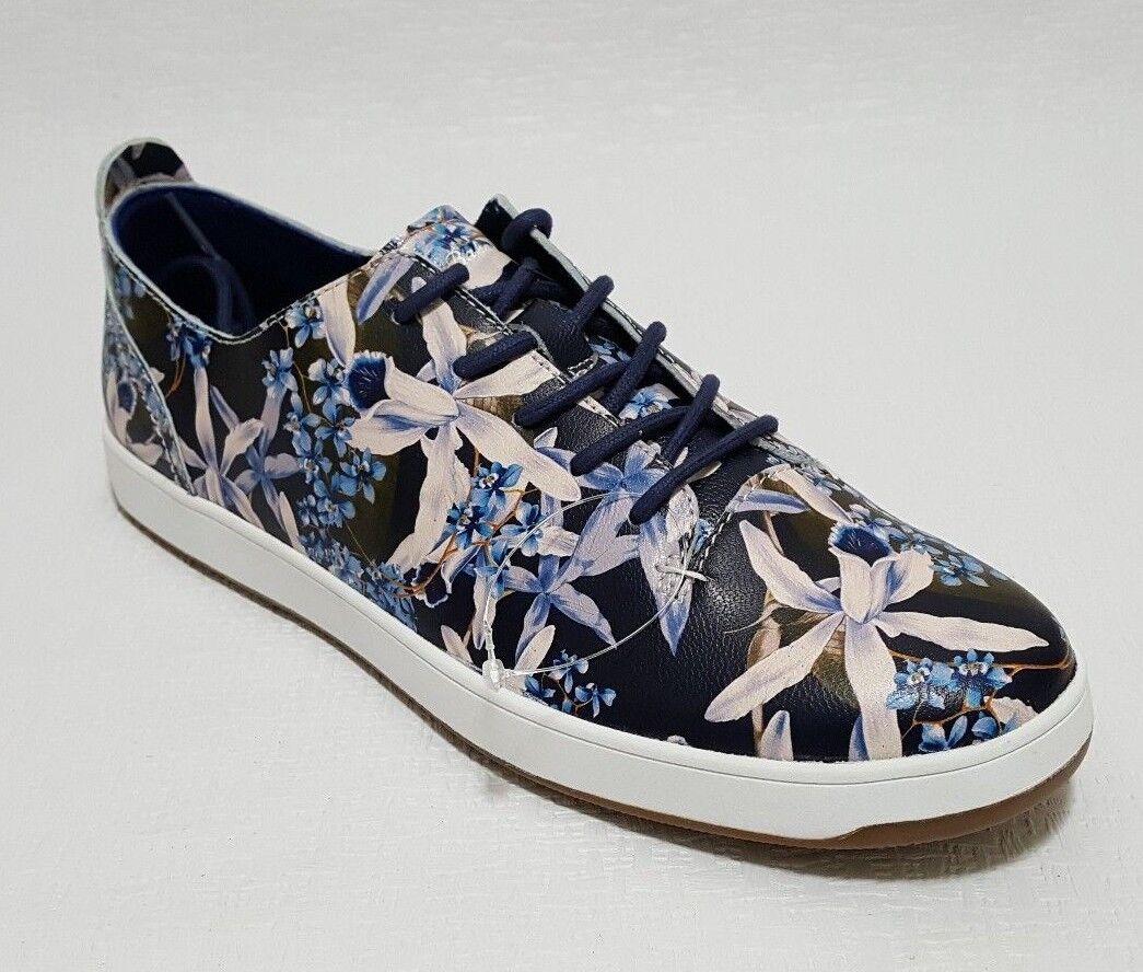NIB Tommy Bahama Cove Island Blau Relaxology Floral Leather Turnschuhe schuhe Sz 9