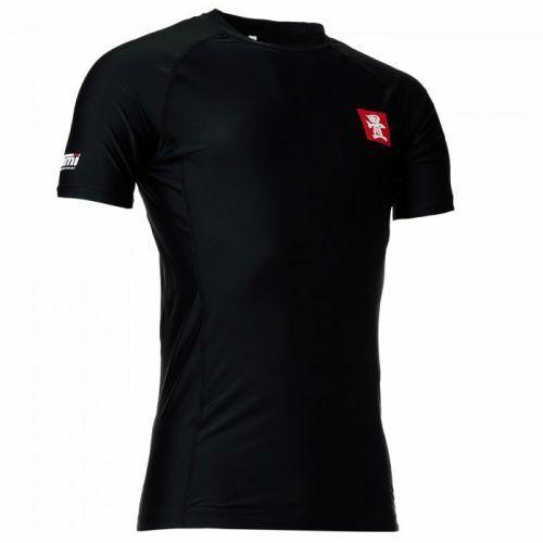TATAMI Étiquette Rouge 2.0 à manches courtes Rash Guard Noir Brésilien Jiu Jitsu Grappling MMA
