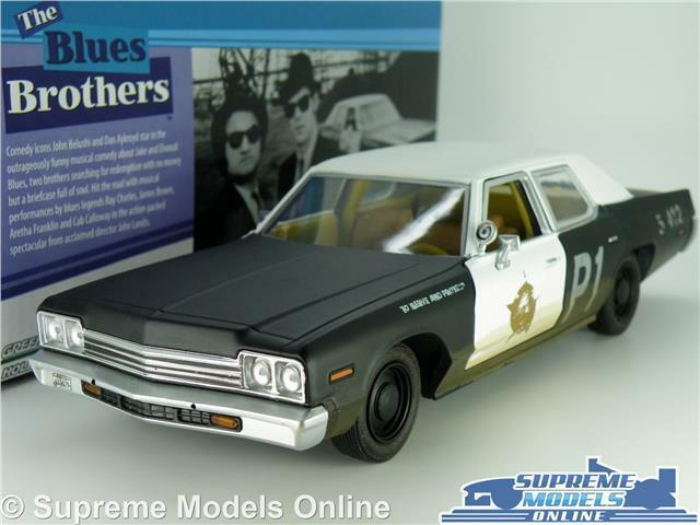 blueES BredHERS DODGE MONACO blueESMOBILE CAR MODEL 1 24 SIZE LARGE GREENLIGHT T3