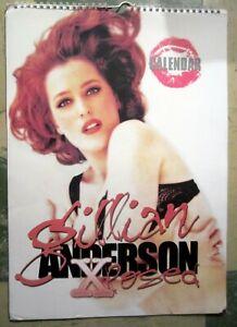 Gillian-Anderson-Xposed-Calendar-17X12-Great-Condition