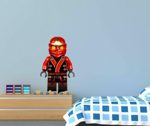 Lego Ninjago Red Kai Character Custom Wall Decals 3D Wall Stickers Art ST256