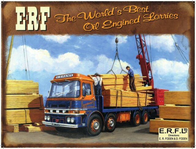 ERF Truck, Lorry, Wagon, Classic/Vintage, Picture, Plaque, Medium Metal/Tin Sign