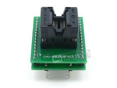 28 34-0.65-01 7.8mm Adaptador de Programación de Zócalo de prueba de chip IC SSOP 28 a DIP28 OTS