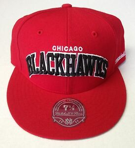 27048bcda72 NHL Chicago Blackhawks Mitchell and Ness Red Arch Fitted Vintage Cap ...