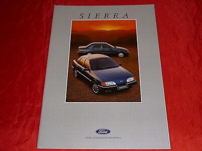 Sales Brochures Tireless Ford Sierra Cl Gl Ghia 2.0is Xr 4x4 Prospekt Von 1988