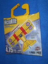"X-Kites MicroKite Mini Mylar Kite 4.75"" - ""BiPlane"" - Brand NEW, Sealed"