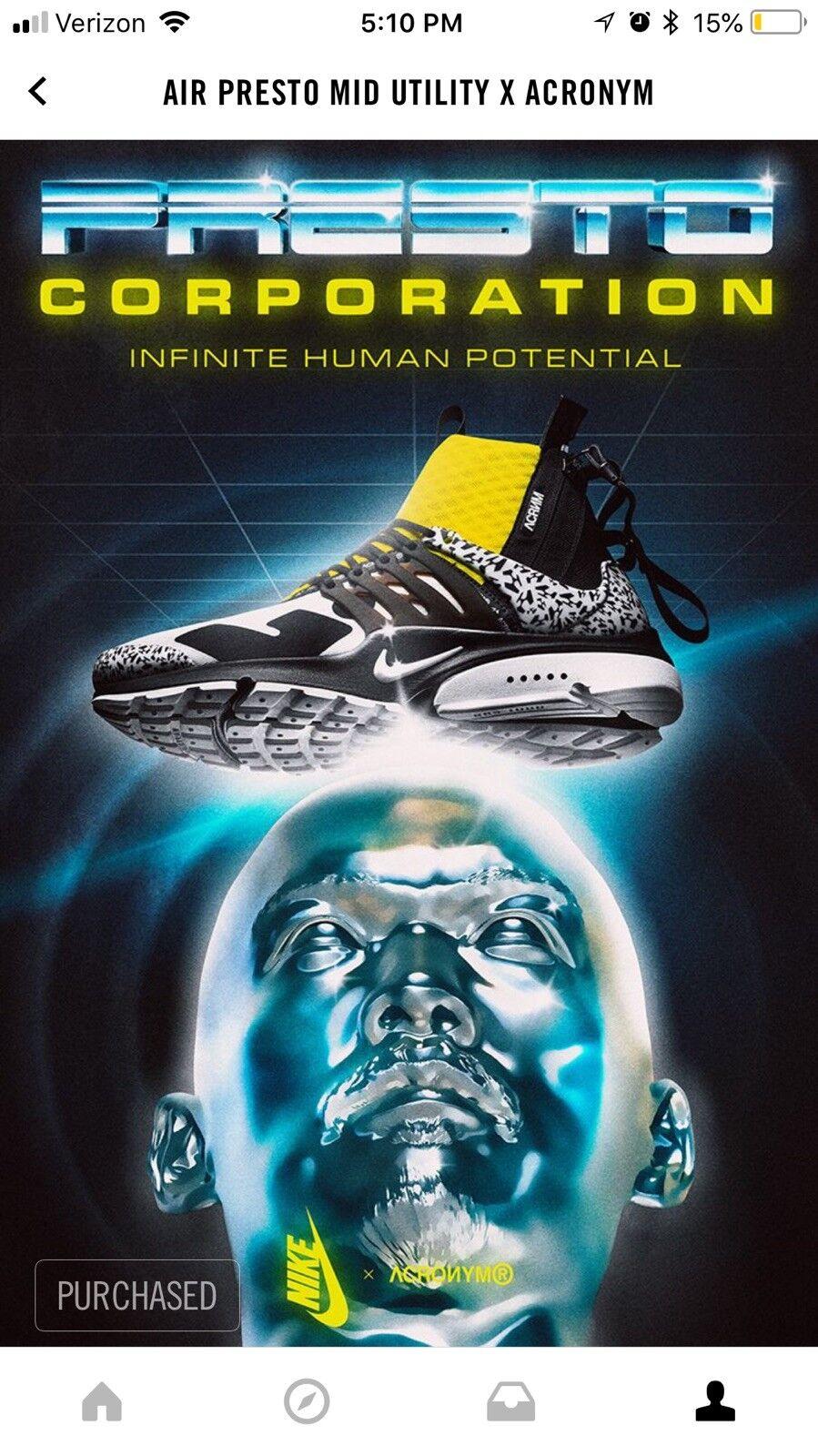 Nike Air Presto Acronym Size 11