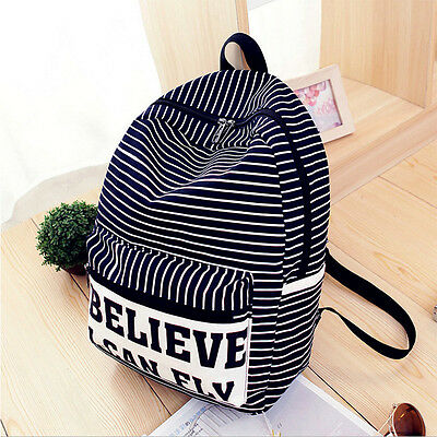 Fashion Womens Girls Canvas Shoulder School Bag Bookbag Backpack Travel Rucksack