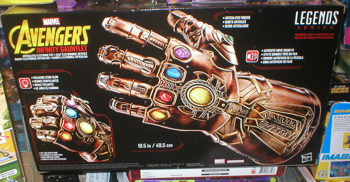 MARVEL LEGENDS ELECTRONIC ARTICULATED AVENGERS  INFINITY GAUNTLET, SEALED, UNOPE