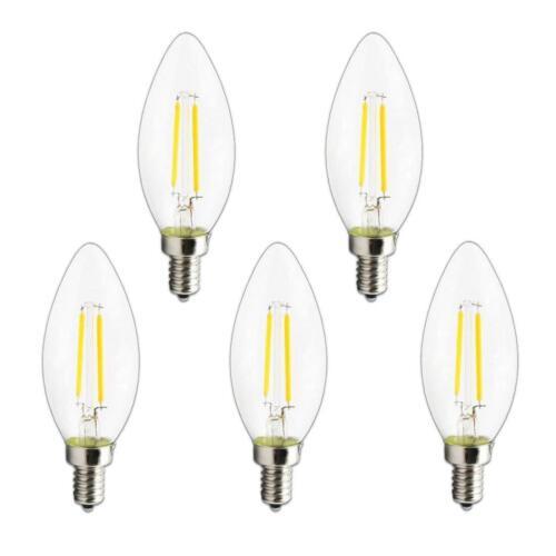 E12 4W 6W Dimmable Edison Filament Bulb LED Light Lamp Candle C35