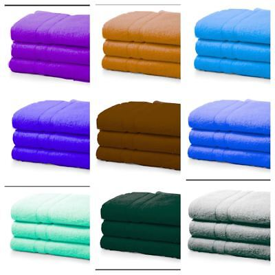 3 PIECES OF LUXURY JUMBO LARGE SOFT COTTON BATH TOWELS SHEET BATHROOM 90X 170 cm