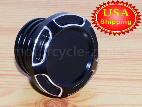 For Harley Gas Tank Cap Vented Fuel Cover Sportster XL 883 1200 Touring Black