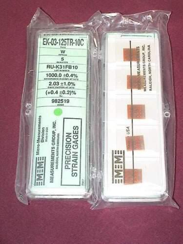 Vishay Micro Measurements EK-03-125TR-10C Precision Strain Gage 5 pack Option W