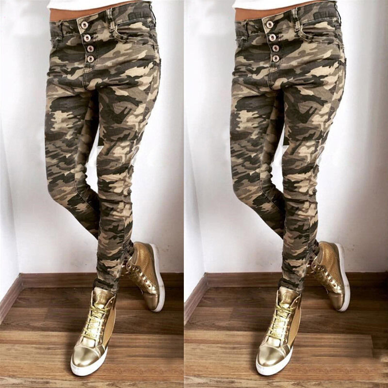 Excellent About New Womens Ladies Black Wide Loose Combat Trousers Cargo Jeans