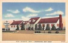 Hightstown New Jersey Old Hights Inn Linen Antique Postcard K10122