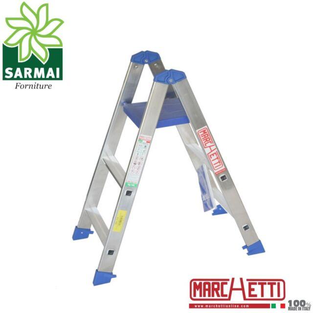 Marchetti PABLO scala scaletto alluminio doppia salita 3 gradini con piano 97 cm